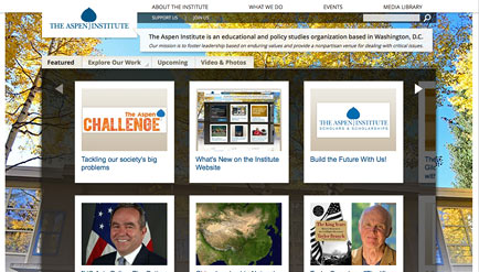 Aspen Institute new site design
