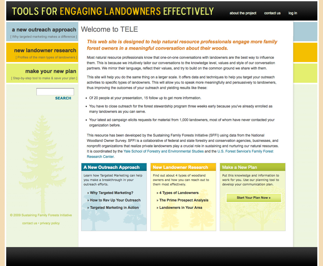Tools for Engaging Landowners Home page