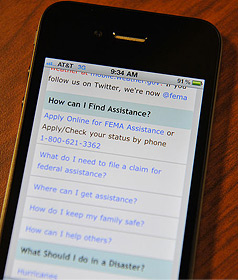 smart phone: FEMA image, public domain