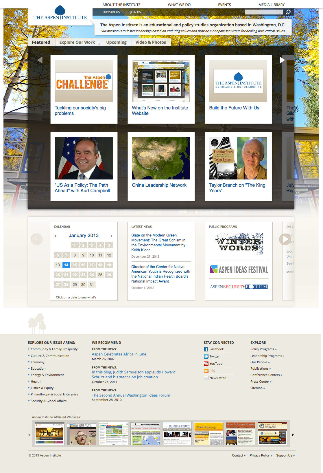 The Aspen Institute - home page