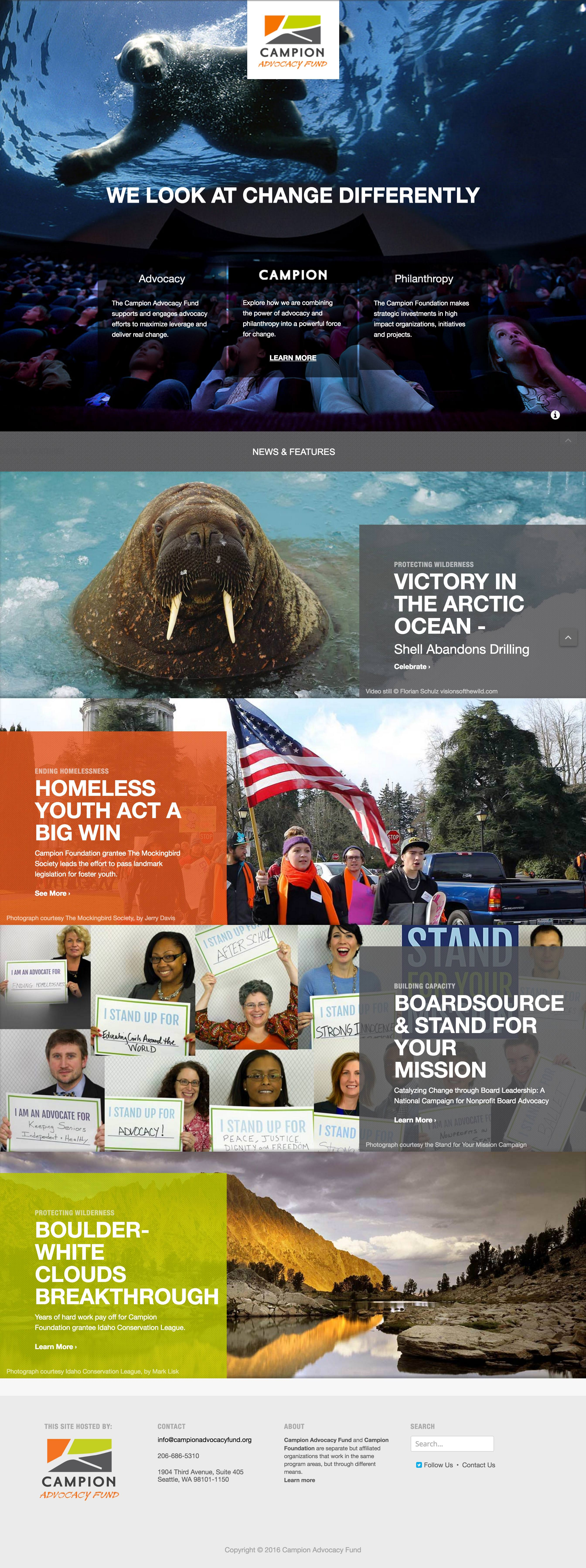 Campion Advocacy Fund home page