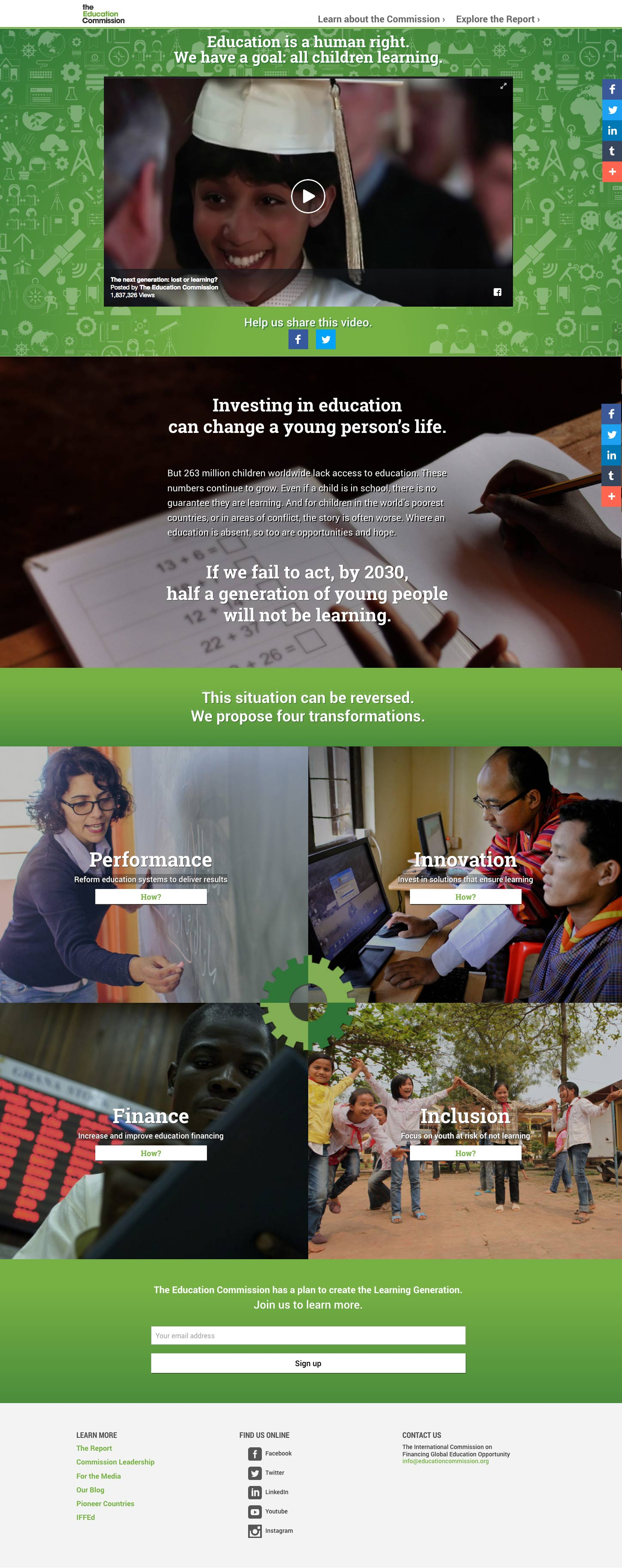the Learning Generation home page
